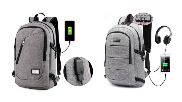 how do backpacks with usb work